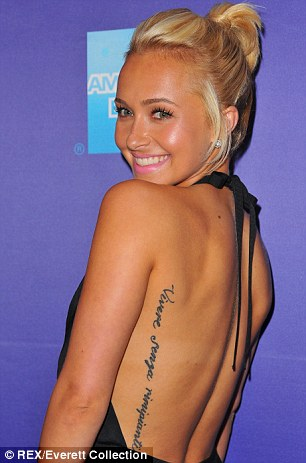 misspelled tattoo, hayden panettierre, rimipianti, errors en tatuatges